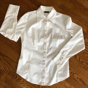 New York & Company Stretch Button Down Shirt